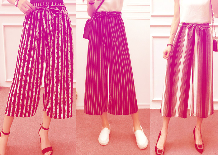 The Right Way to Wear Striped Palazzo Pants