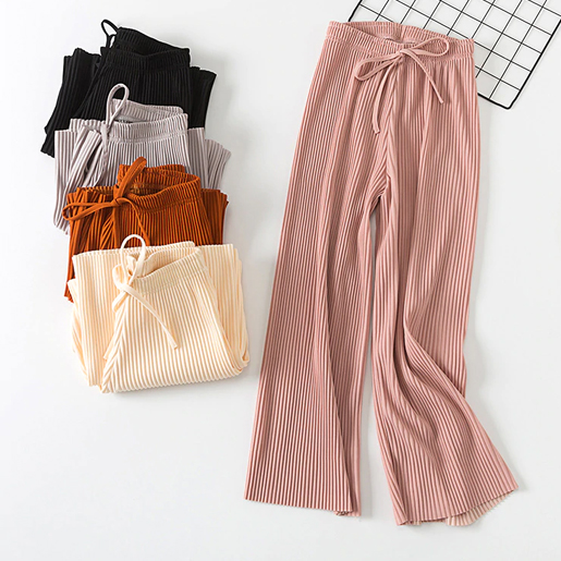 Casual Palazzo Pants High Waist 4 Colors