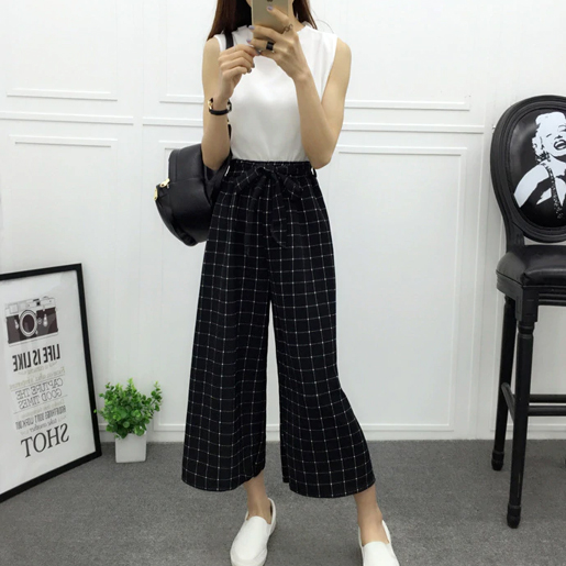 Geometric High Waisted Palazzo Pants