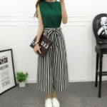 Striped Loose Palazzo Pants B & W